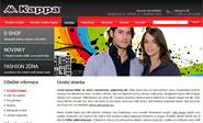 E-shop, tvorba e-shopu: kappa-sport.cz