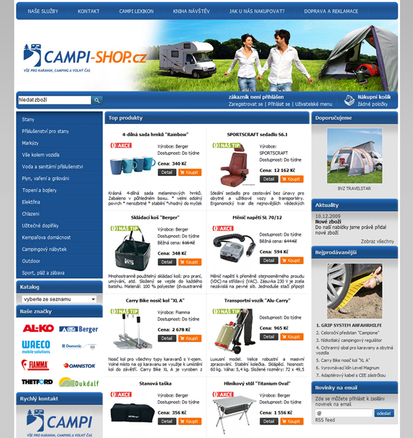 E-shop, tvorba e-shopu: campi-shop.cz