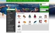 Webdesign: zebrasport.cz