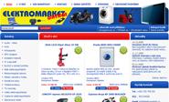 E-shop, tvorba e-shopu: elektromarket.cz