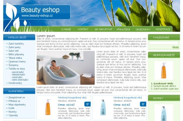 E-shop, tvorba e-shopu: beauty-eshop.cz